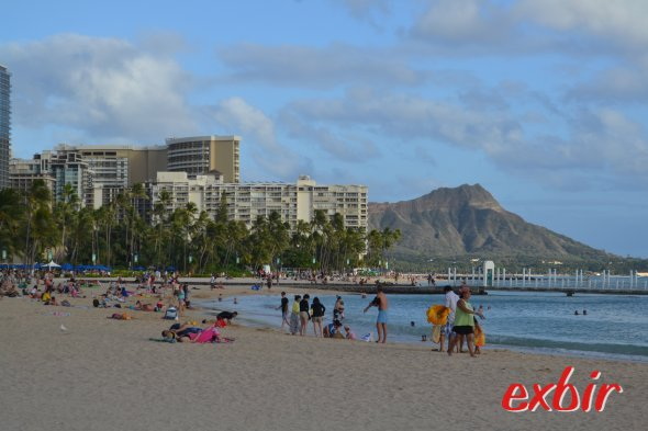 Strand bei Waikiki. Foto: Maskos