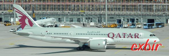 Airline of the year 2017 ist Qatar Airways.  Foto: Christian Maskos