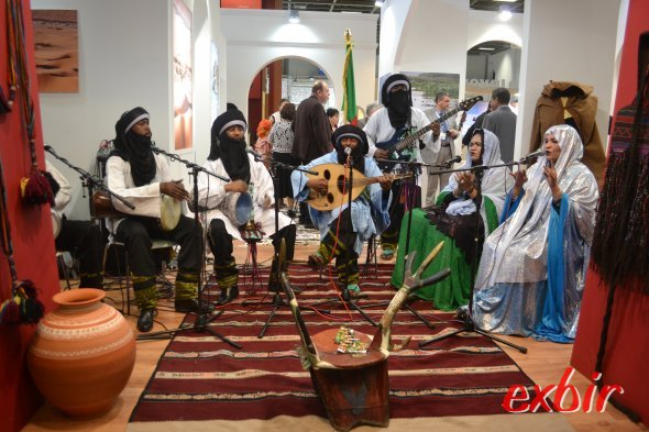 Live-Musik aus Algerien auf der ITB.  Foto: Christian Maskos