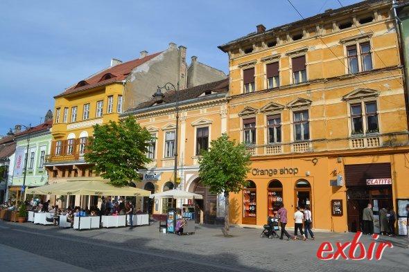 Fußgängerzone von Sibiu.  Foto: Christian Maskos