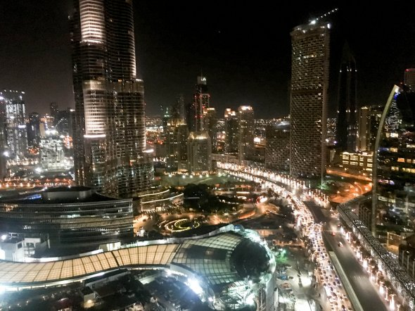 Downtown Dubai in der Nacht