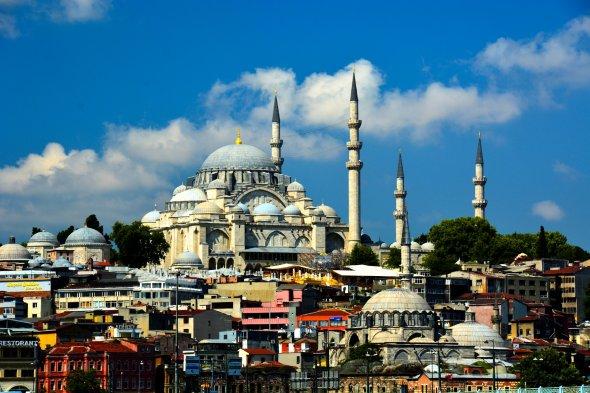 Zwischen 1550 und 1557 erbaut: Die Süleymaniye-Moschee in Istanbul, Türkei