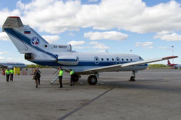 Eine YAK 40 von Vologda Air.  Foto: Bernd karlik.