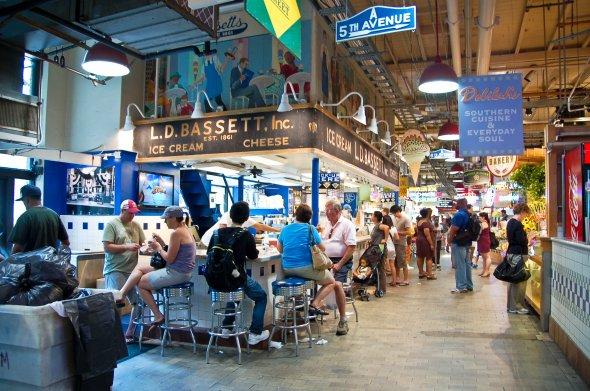 Markthalle Reading Terminal Market in Philadelphia, PA