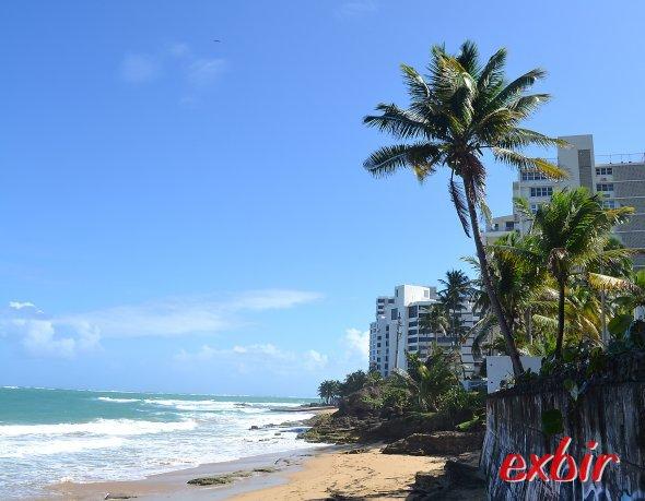 Karibikfeeling am Strand der kosmopolitischen Metropole San Juan in Puerto Rico.  Foto: Christian Maskos