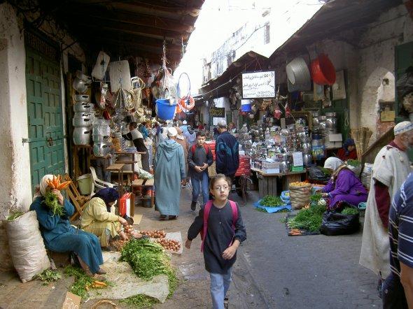 Auf dem marokkanischen Markt in der spanischen Exklave Ceuta