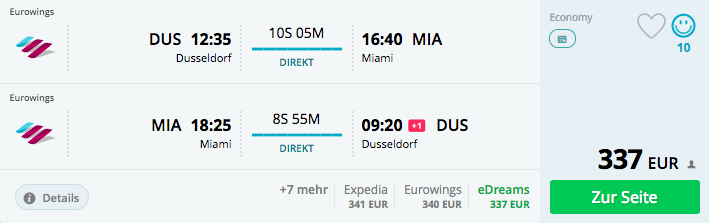 Wahnsinn Nonstop Nach Miamiflorida Mit Eurowings Ab Düsseldorf In