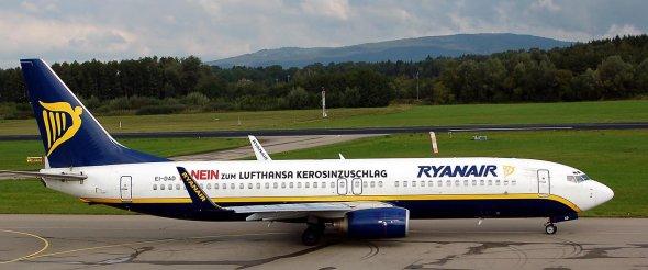 Eine Boeing 737-800 von Ryanair.