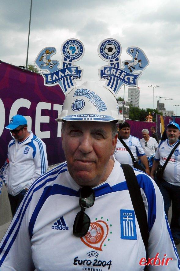 Mehr Grund zum feiern gab es für die Fans die Griechen. Foto: Christian Maskos