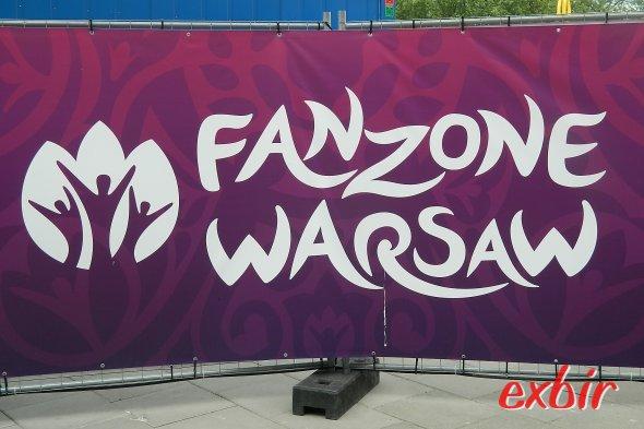 Logo der Fanzone in Warschau. Foto: Christian Maskos