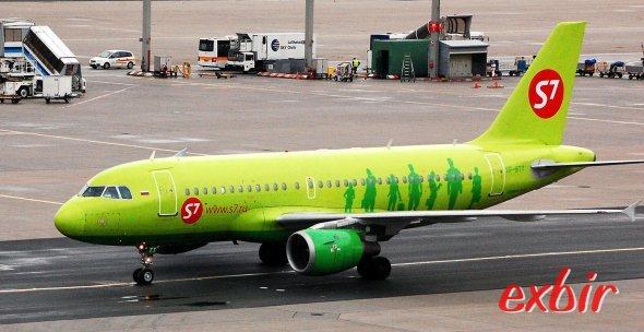 Ein Airbus A319 von S7 Airlines.  Foto: Christian Maskos
