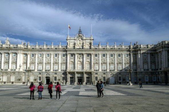 Königspalast in Madrid. Urheber: Felipe Gabaldón, Lizenz: creative commons (Namensnennung)