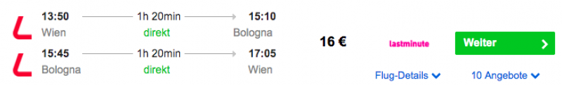 Das Ist Billig Hin Und Rückflüge Wien Bologna Für 16
