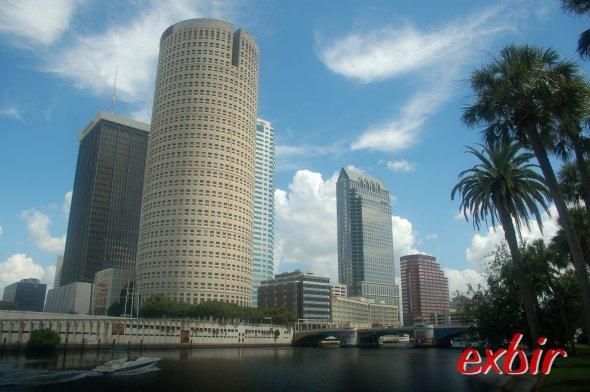Downtown Tampa vom Universitätsgelände aus fotografiert.  Foto: Christian Maskos