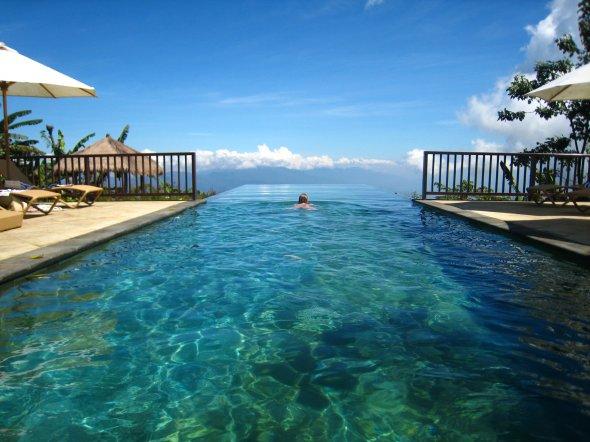 Der aufregende Pool im Munduk Moding Plantation Nature Resort & Spa auf Bali