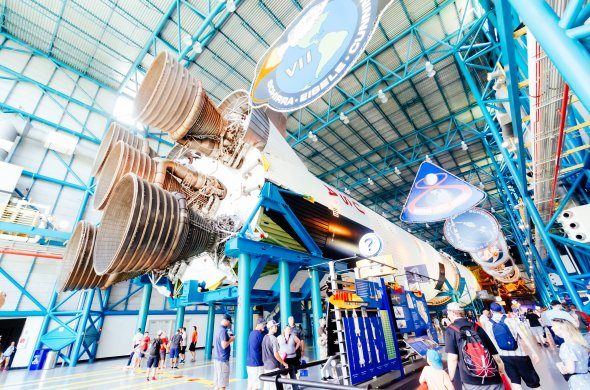 Die Rakete Saturn V im Kennedy Space Center, Florida