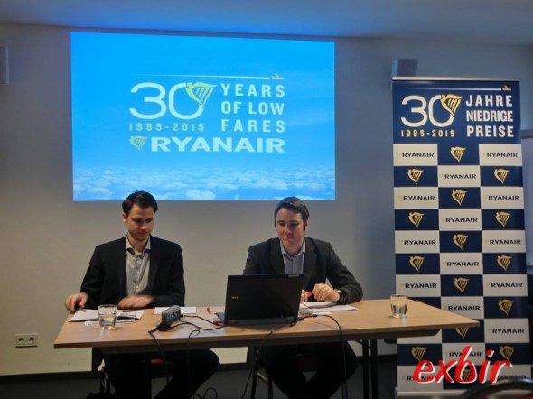 Pressekonferenz von Ryanair und Eurowings im Maritim Hotel bei köln.