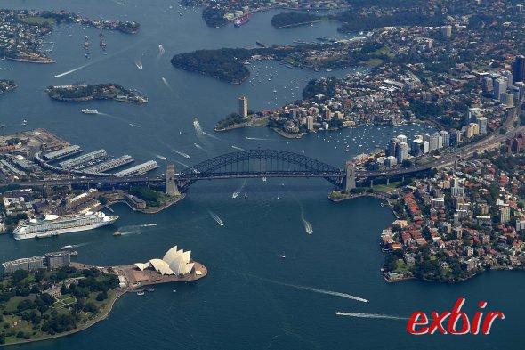 Sydney aus der Vogelperspektive.  FotO: Christian Maskos