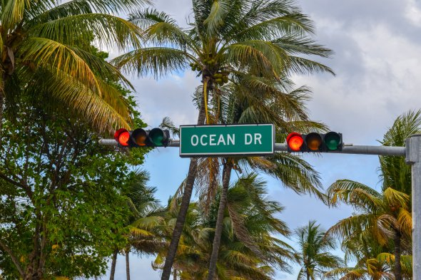 Ocean Drive in Miami, Florida