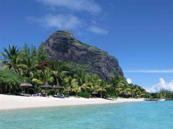 Der Le Morne Brabant auf Mauritius.