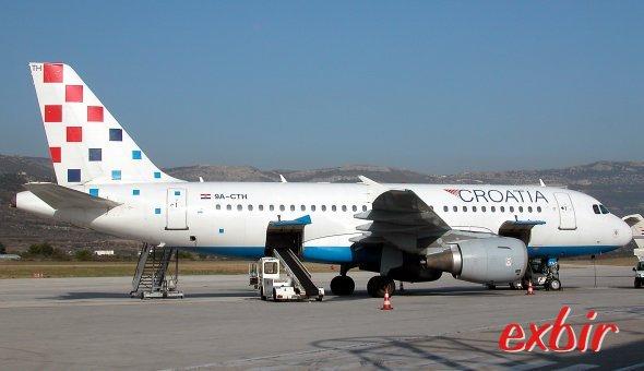 Croatia Airlines ist die einzige Airline, die Inlandsflüge in Kroatien anbietet, entsprechend hoch sind die Preise. Foto: Christian Maskos
