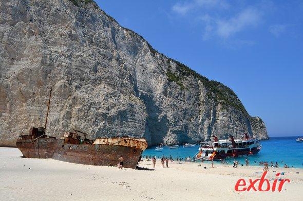 Shipwrek-Beach ist eines der meist fotografierten Motive auf Zakynthos. Foto: Christian Maskos