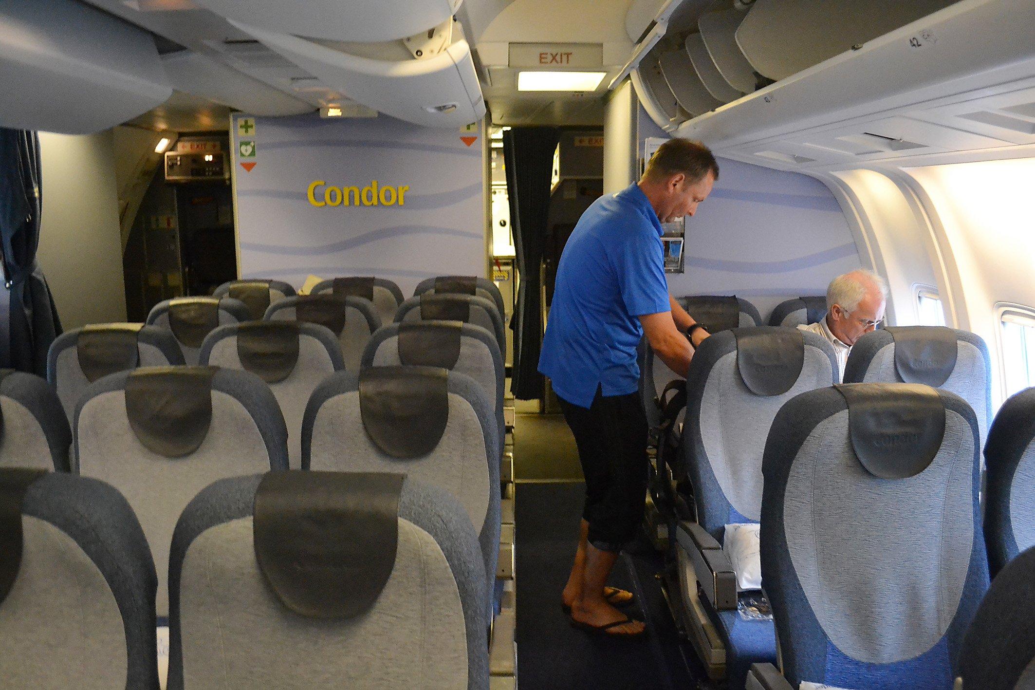 An Bord bei Condor. Foto: Christian Maskos