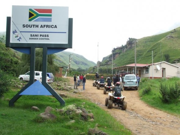South African border post on Sani Pass