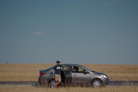 Pausenstop während eines Roadtrips durch die USA