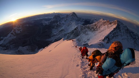 Everest, Sunrise, about 2 hours after reaching the Balcony