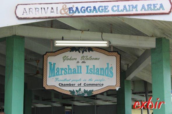 Ankufnt auf den Marshall Inseln.  Foto: Christian Maskos