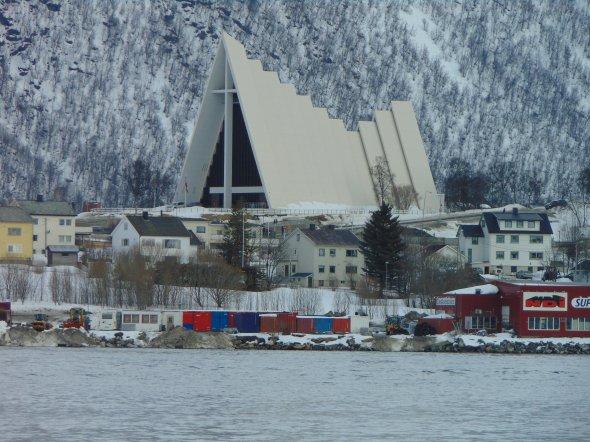 Die arktische Kathedrale in Tromsö.