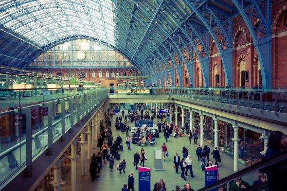St. Pancras Bahnhof in London