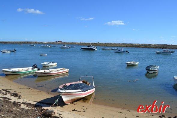 Fischerboote in Cabanas bei Faro an der Algarveküste.  Foto: Christian Maskos