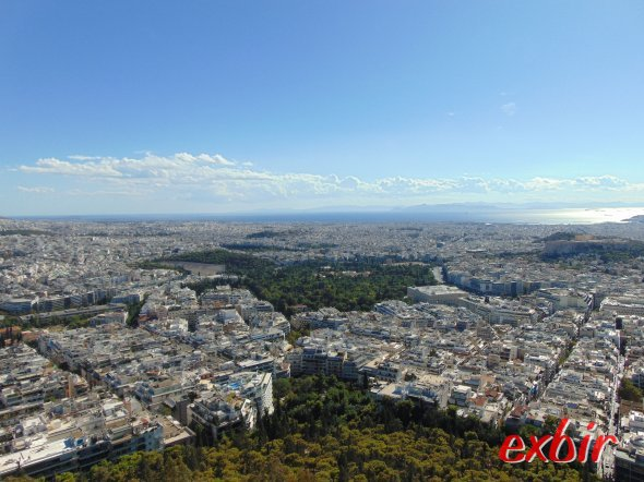 Athens center with the olympic stadium.  Amazing view over the greek capital from the Lycaettus. photo: Christian Maskos