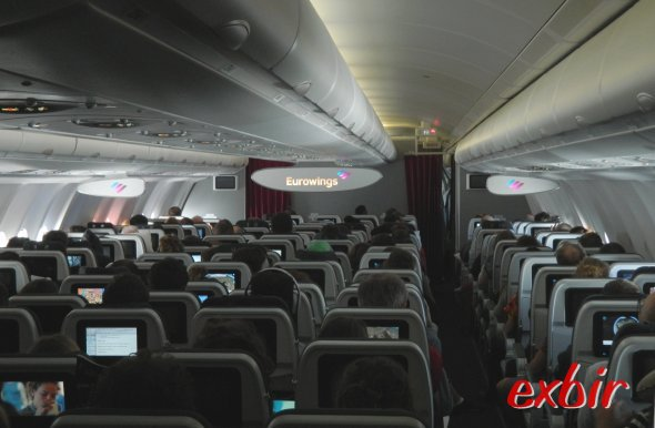 Im Eurowings Flieger.