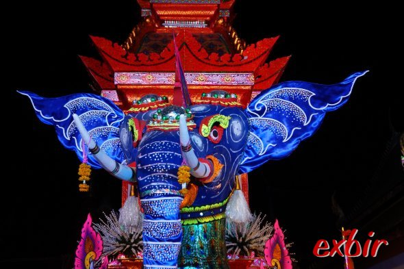 Tempel in Chiang Mai bei Nacht.  Foto: Christian Maskos