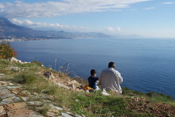 Father & Son  On the Alanya Peninsula, Turkey