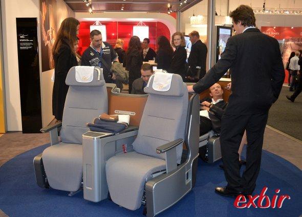 Die neue Lufthansa Businessclass von vorn. Foto: Christian Maskos