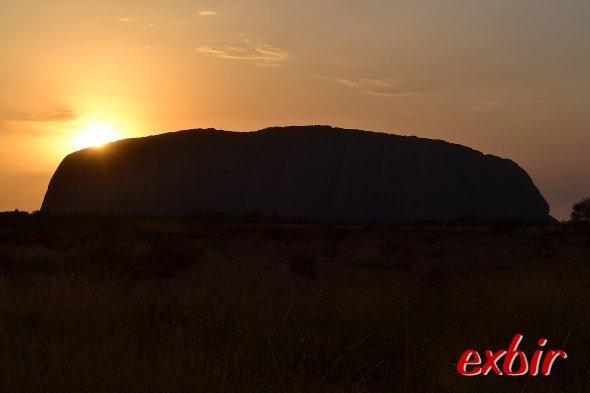 Sonnenuntergang am Uluru. Foto: Christian Maskos