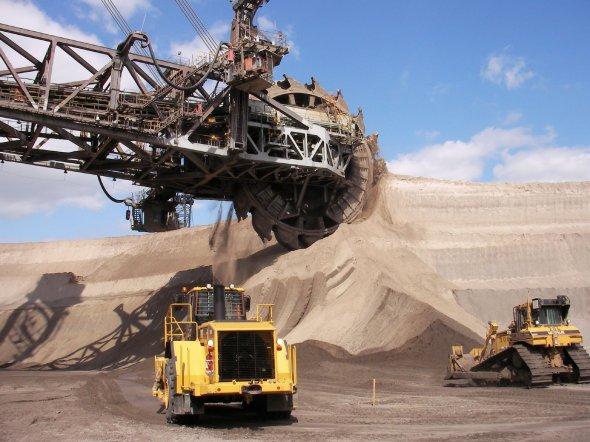 Tagebau in Garzweiler, Deutschland