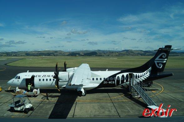Eine ATR 72 im Auftrag von Air New Zealand.  Foto: Christian Maskos