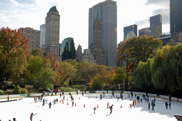 Schlittschuhlaufen im Central Park (New York)