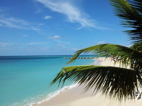 Strand in Montego Bay, Jamaika