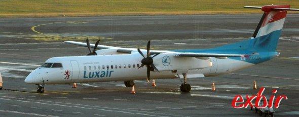 Eine Dash 8 von Luxair.  Foto: Christian Maskos