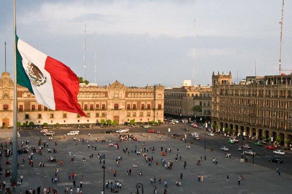 Die Plaza de la Constitucion in Mexiko-Stadt. Urheber: Robert Brands, creative commons
