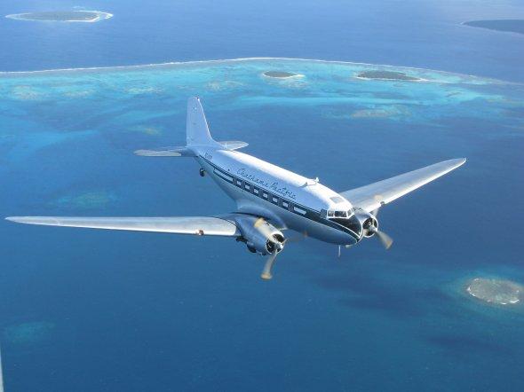 Air Chathams operiert die Douglas DC 3 im Liniendienst zwischen Auckland und Whakatane.  Foto. Air Chathams