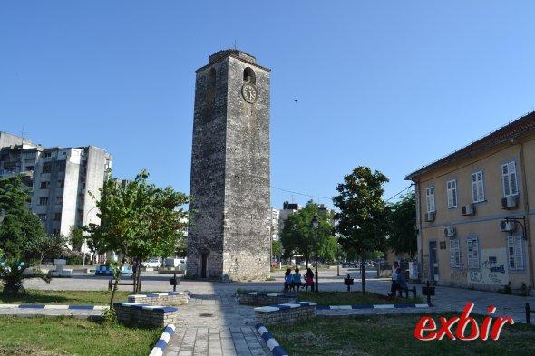Historischer Uhrenturm in Podgorica.  Foto: Christian Maskos