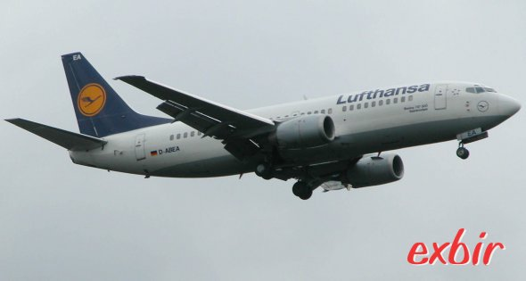 Eine Boeing 737 von Lufthansa.  Die Kranich-Linie führt nun Tarife ohne Aufgabegepäck ein.  Foto: Christian Maskos