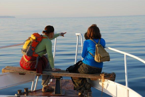 Bootsfahrt auf dem Baikalsee..., Russland, Sibirien